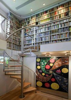 I'm going to need this kind of library in my dream home yes please - Home Library Design Ideas - Decor Ideas - Ideas de Decoración- Bibliotecas Home Library Design, Dream Library, Home Interior Design, House Design, Library Ideas, Design Desk, Modern Library, Library Ladder, Interior Decorating