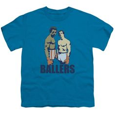 MGM/Rocky/Ballers Short Sleeve Youth 18/1 in Turquoise