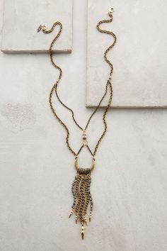 Chained Crescent Necklace - anthropologie.com