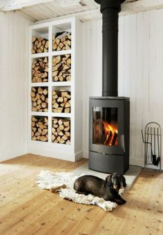 pictures of cornered wood stoves and tiling on wall - Google Search