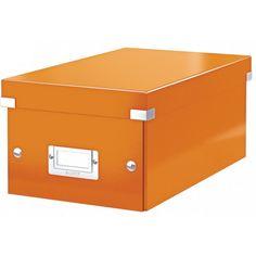 Leitz CLICK & STORE Archiv Box DVD orange metallic LE3310 60420044