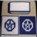 Blue Pentagram Coasters
