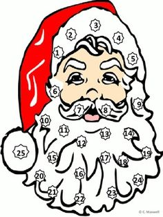 Freebie! Christmas Santa's Beard Countdown Math Activity