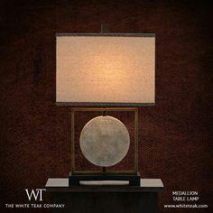 With its fresh design and neutral tones, the Medallion Lamp turns heads wherever it goes! https://whiteteak.com/medallion-lamp #Lifestyle #Lighting #Dècor #WhiteTeak #Home #InteriorDesign #HomeLove #InteriorDècor #TableLamps