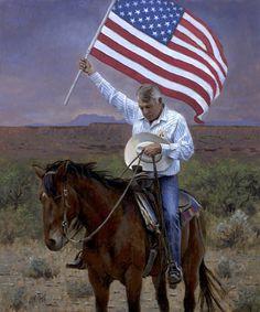 Pray for America by Artist John McNaughton I love this man Art work he paints…