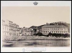 Málaga. La Aduana y el castillo de Gibralfaro.. Clifford, Charles 1819-1863 — Fotografía — 1862