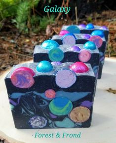 Galaxy Space soap Forest & Frond #soapmakingbusinessideas