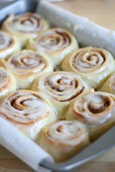 Cinnabon cinnamon rolls... Im so glad I found this. Now to actually make them. yumm!