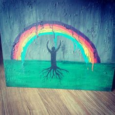 Promise: God gave us the rainbow as a reminder of His promise. Stand firm in Faith and Believe in what He promised you. #worshippainting #art #painting #TishaGoodall