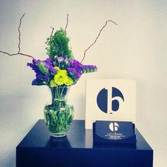 #salon #salonbeau #thesalonbeau #flowers #flowersoftheweek #purple #greens #branches #lime #green