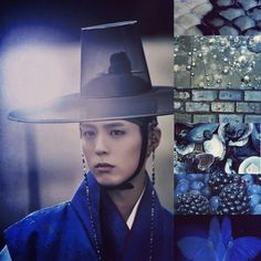 Park Bo Gum drawn by clouds || Park Bo Gum Oppa, Royal blue aesthetic collage, Lee Young (Moonlight drawn by cloud)  || (Edit owned by Miriam Hannah Robinson)