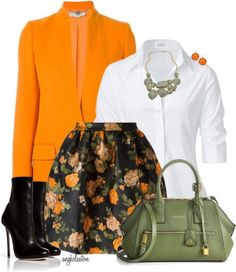 Stylish Floral Skirt For Fall Outfit