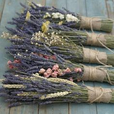 Lavender & Yarrow Posy The Artisan Dried Flower Company Fradswell, Staffordshire is part of Dried flowers - Lavender Crafts, Lavender Flowers, Lavander, Lavender Bouquet, Lavender Garden, Dried Flower Bouquet, Dried Flowers, Deco Nature, Boutique Deco