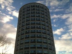 Dawson House. Landmark circular tower block. Now the subject of a whole practical module for anyone taking a City & Guilds course in Floor Tiling and Carpet Fitting