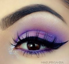 Bright purple with dramatic winged liner #vibrant #smokey #bold #eye #makeup #eyes #eyeshadow