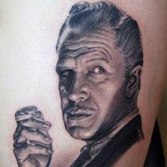 A black and grey tattoo portrait by artist Shane O'Neill. | Intenze ink