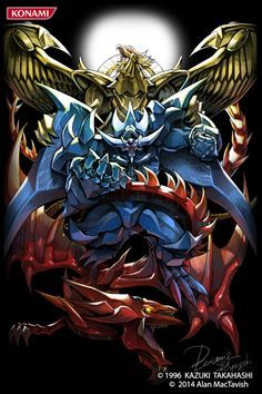 artist_name bawang-ryuuzaki blue blue_skin dragon duel_monster fangs gold monster no_humans obelisk_the_tormentor open_mouth red red_skin slifer_the_sky_dragon teeth the_winged_dragon_of_ra wings yellow_skin yu-gi-oh! Yugioh Wallpaper, Desenho Yu Gi Oh, Atem Yugioh, Obelisk The Tormentor, Yugioh Collection, Yugioh Monsters, Japon Illustration, Digimon, Animes Wallpapers