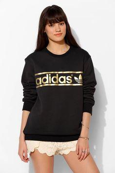 adidas Mirror Trefoil Logo Pullover Sweatshirt