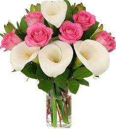 Pink Rose and Calla Lily Bouquet. Change to Purple lily, ivory rose, less green. Avas Flowers, Home Flowers, Flowers Garden, Flower Gardening, Calla Lily Bouquet, Calla Lilies, Rose Wedding Bouquet, Wedding Flowers, Bridal Bouquets