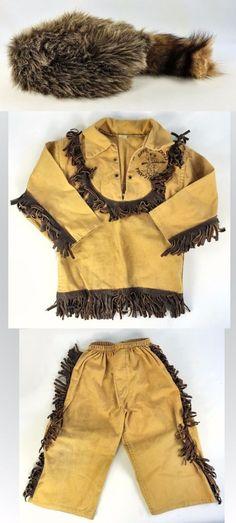 Davy Crockett J Halpern Halco Masquerade Halloween Costume Original w Box