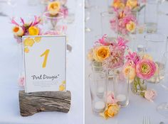 not necessarily the table numbers..but i like the flowers!