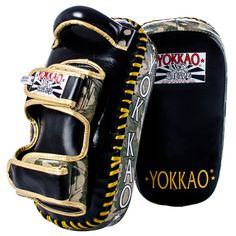 YOKKAO Curved Green ARMY Kicking Pads NEW!