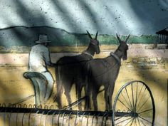 Mural on the seawall, Riverfront Park, North Little Rock, Pulaski Co., AR. My copyright.