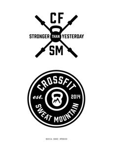 Crossfit Sweat Mountain T-Shirt Logo Design Comps on SCAD Portfolios