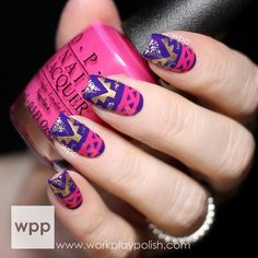 Tribal Nail Art with Polishes from the OPI Ford Mustang and Nordic Collections (via Bloglovin.com )