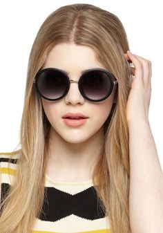 The Music Seen Sunglasses in Black, #ModCloth