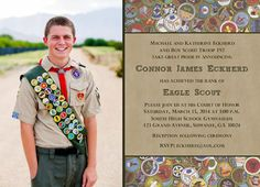 NEW!!! Virtues photo Eagle Scout Invitation