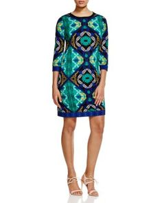 Laundry by Shelli Segal Scarf Print Dress | Bloomingdale's