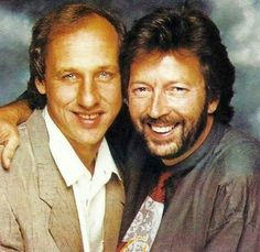 Mark Knopfler and Eric Clapton--2 genuine guitar Gods!