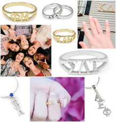 "GOTTA HAVE IT: Greek Letter Sparkle & Shine! Nothing says ""sorority life"" better than wearing your GREEK LETTERS. sorority sugar FAVE The Collegiate Standard has classic, timeless greek letter jewelry for every occasion. Gold, silver, gems, crystals…. just plain gorgeous!   https://thecollegiatestandard.com"