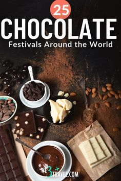 If you love chocolate, you may want to plan a trip to one of these chocolate festivals around the world. Taste all kinds of chocolate, learn how chocolate is made, meet cacao farmers, try chocolate pairings, and enjoy fun chocolate cooking classes and workshops to recreate chocolate recipes at home. Big Chocolate, Chocolate Delight, Artisan Chocolate, How To Make Chocolate, Chocolate Lovers, Chocolate Recipes, Chocolate Cakes, Chocolate Festival, Festivals Around The World