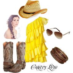 Coutry Love, created by rssoftball on Polyvore