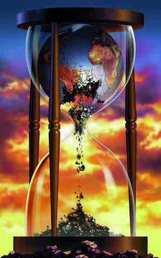 Clock Hourglass Time:  The world running out of Time...