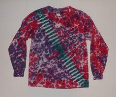 Long Sleeve Tie Dye / Slanted Stripe  Choose by OriginalAccents, $20.00
