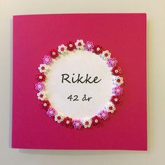Hama beads│Birthday card│Design © 2014 Lene Holm Gamborg