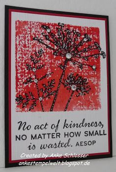 No act of kindness ...