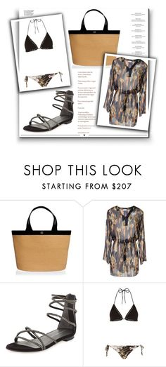 """""""Outfit # 4036"""" by miriam83 ❤ liked on Polyvore featuring Eric Javits, Brigitte, Stuart Weitzman, Zimmermann, Haute Hippie and Whiteley"""