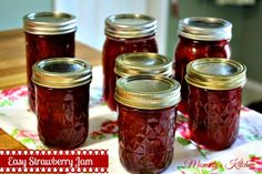 Mommy's Kitchen - Old Fashioned & Southern Style Cooking: Easy Homemade Strawberry Jam