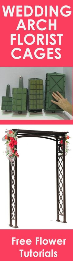 Wedding Flower Arch - Easy Step by Step Flower Tutorials  Learn how to make bridal bouquets, wedding corsages, groom boutonnieres, church decorations, pew ends and reception centerpieces.  Buy wholesale flowers and discount florist supplies.