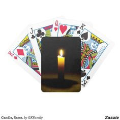 Candle, flame. bicycle playing cards