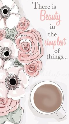 rose hill designs by heather stillufsen Coffee Illustration, Illustration Art, Girly Wallpaper, Wallpaper Pic, Rose Hill Designs, Notting Hill Quotes, Girly Quotes, Pretty Quotes, Planner Pages