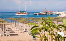 Das schöne Meer in der Türkei