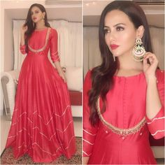 Sana Khan, Indian Bridal, Kurtis, Indian Dresses, Pakistani, Suit, Formal Dresses, Gallery, How To Wear