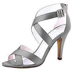 Looking for ElegantPark Women High Heel Shoes Open Toe Cross Strap Satin Wedding Dress Sandals ? Check out our picks for the ElegantPark Women High Heel Shoes Open Toe Cross Strap Satin Wedding Dress Sandals from the popular stores - all in one. Wedding Sandals For Bride, Bridal Sandals, Dress Sandals, Heeled Sandals, Prom Shoes, Shoes Heels, Womens High Heels, Fashion Boots, Open Toe