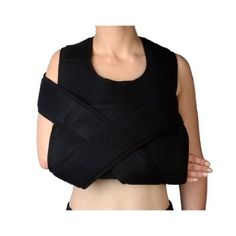 Amazon.com: Shoulder Immobilizer & Arm Sling by Soles - Breathable, Lightweight & Adjustable Neoprene - Soft, Comfortable Support - Improves Recovery Times - Velpeau Bandage - One Size Fits Most: Health & Personal Care