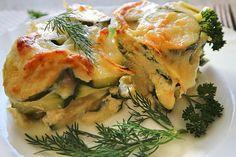 Hauptgerichte – Inspiration for All Zucchini Gratin, Spanakopita, Quiche, Food And Drink, Chicken, Healthy, Breakfast, Ethnic Recipes, Gnocchi